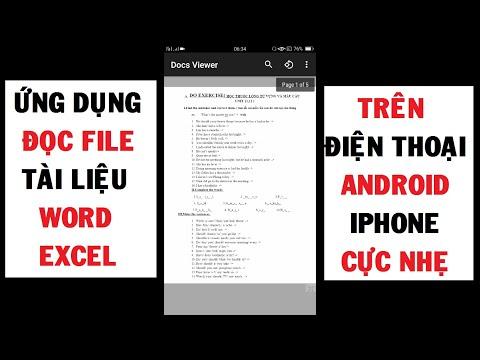 Ứng dụng Đọc File Tài liệu Word, Xls trên Điện thoại Android, Iphone