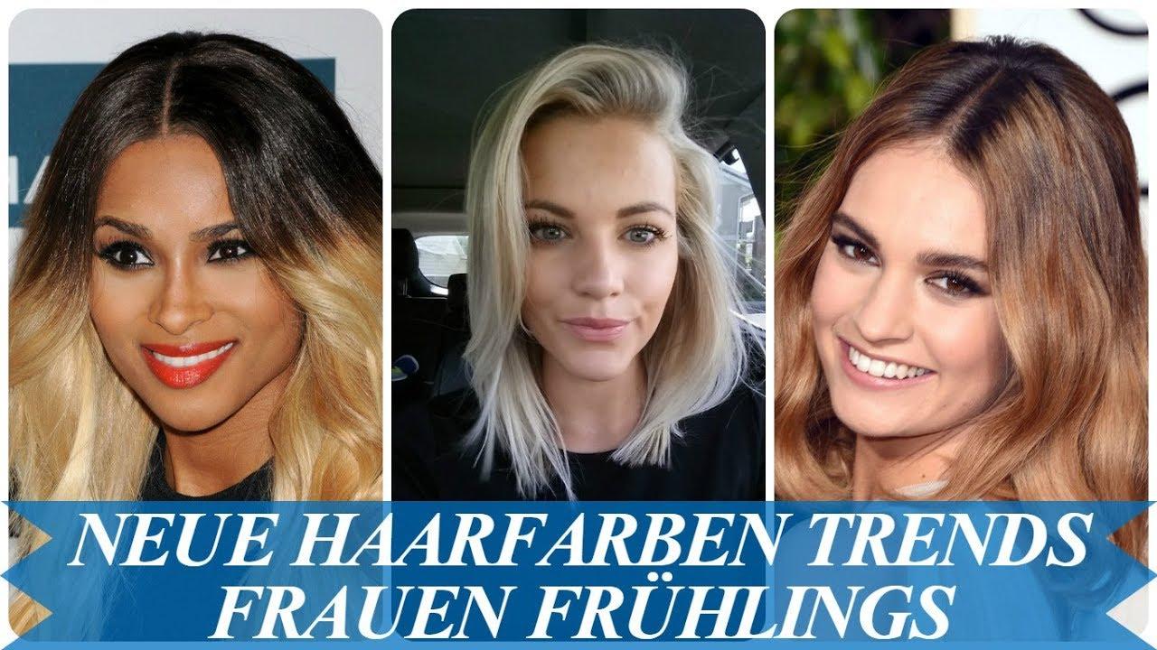 Neue Haarfarben Trends Frauen Frühlings 2018