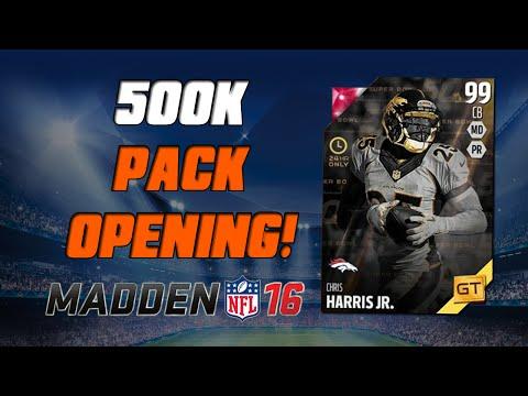 500K Gamechanger Pack Opening! | Madden 16 Ultimate Team - GT Chris Harris Jr