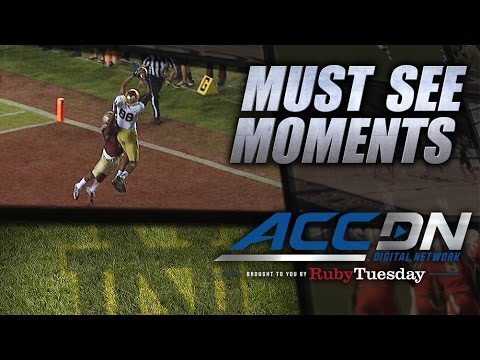 Notre Dame's Corey Robinson Makes Great TD Grab  ACC Must See Moment