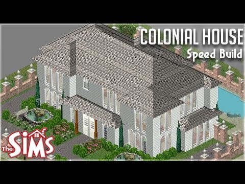 The Sims 1 || House Building || Colonial House || #DesignandDecorate
