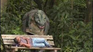 Dinossauro no Parque   pegadinha