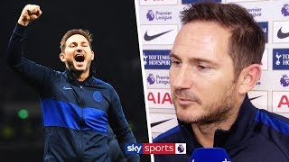 Frank Lampard reacts to Chelsea's 2-0 win over Tottenham