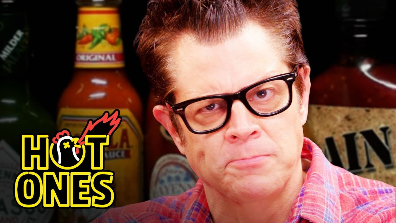 Johnny Knoxville Gets Smoked By Spicy Wings Hot Ones Youtube