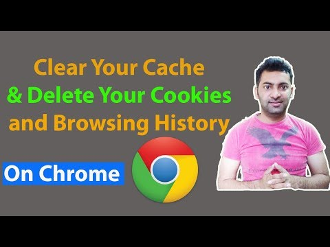 Clear Cache and Delete Cookies and browsing History in Google Chrome