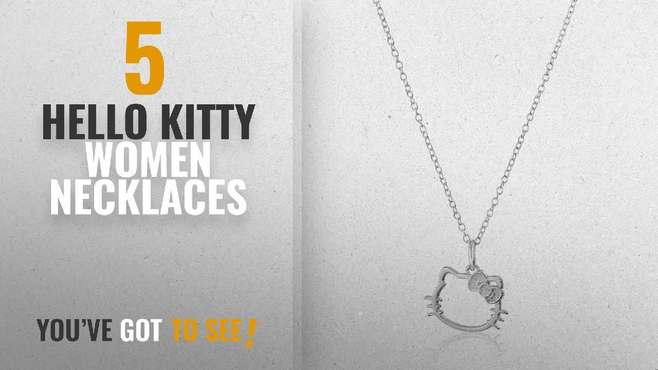 ff449b472 10 Best Hello Kitty Design Women Necklaces: Hello Kitty Disney Sterling  Silver Silhouette Pendant