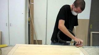 4-b Wood Custom Cabinet's Basic Door Sanding Process