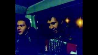 Растеряев и гитаристы в автобусе отжигают Сектор газа