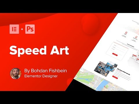 Web Design Speed Art - Contact Page (#Elementor, #Photoshop)