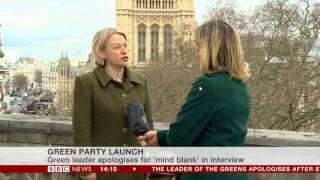 "Natalie Bennett ""I had a brain fade as one does!"""