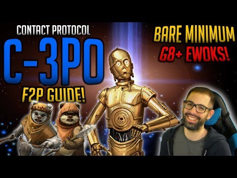 UNLOCK 7 STAR C-3PO F2P BARE MINIMUM LEGENDARY EVENT GUIDE! | SwGoH Star Wars Galaxy of Heroes