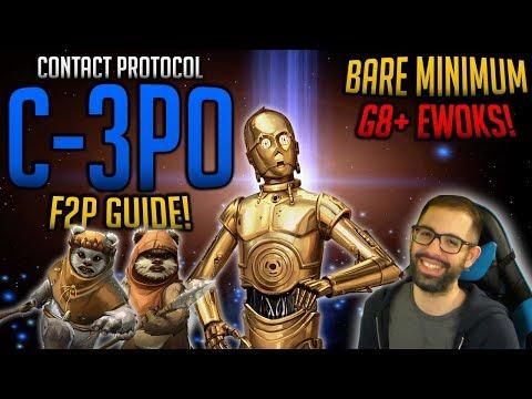 UNLOCK 7 STAR C-3PO F2P BARE MINIMUM LEGENDARY EVENT GUIDE! | SwGoH Star Wars Galaxy Of Heroes