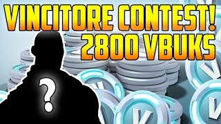 WINNER CONTEST 2800 V-BUCKS of Fortnite!