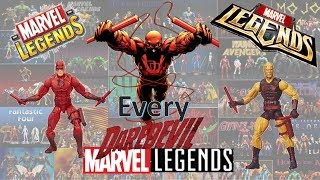 Every Marvel Legends Daredevil Toybiz and Hasbro including SDCC and Spider-man Classics