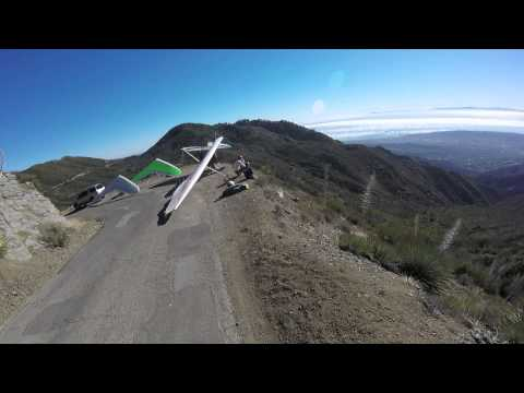 Cycling up Gibraltar Road in Santa Barbara & watching Hang Glider takeoffs