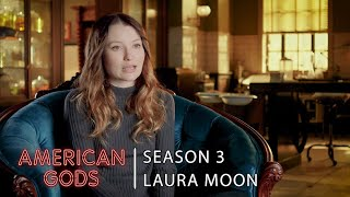 Laura Moon Interview with Emily Browning | American Gods - Season 3