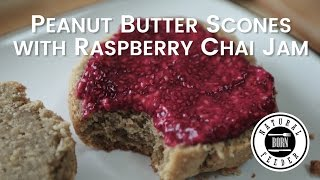 Peanut Butter Scones with Raspberry Chia Jam