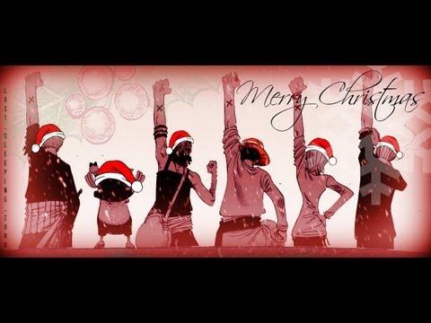 One Piece Utae! Jingle Bells (lyrics Japanese + English on screen)