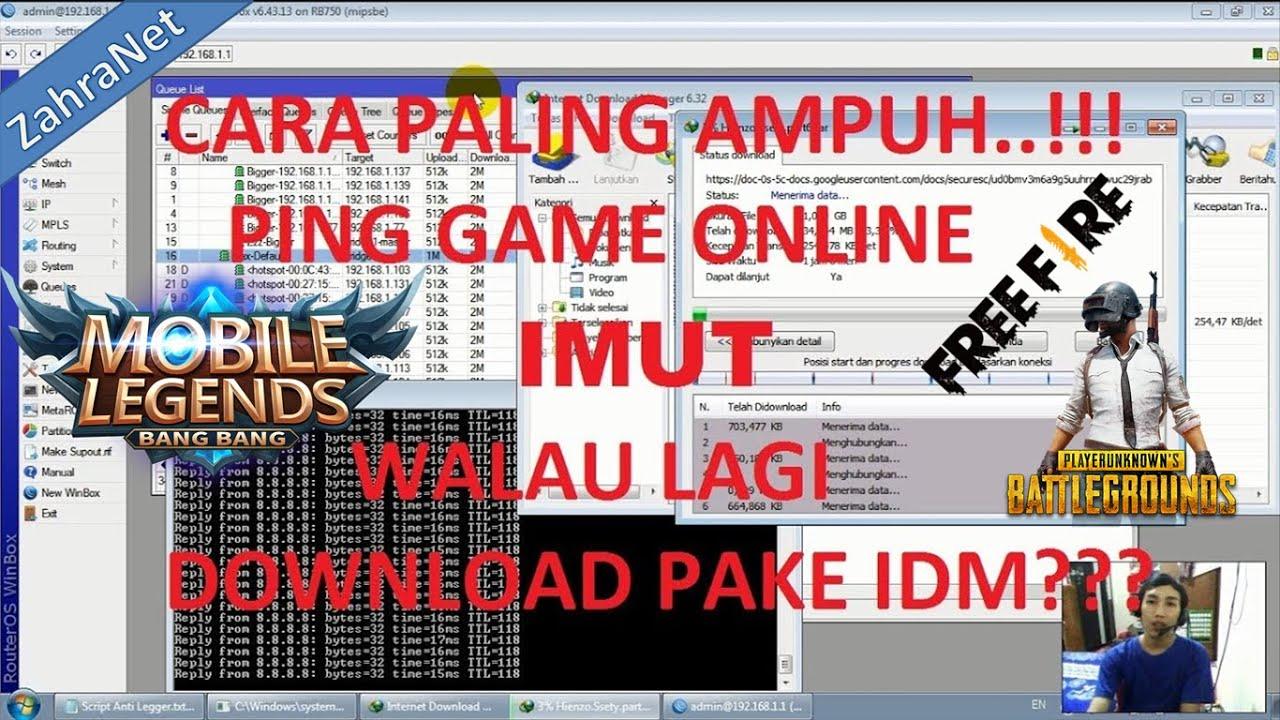 Menstabilkan ping game online mikrotik walau sedang download dan browsing