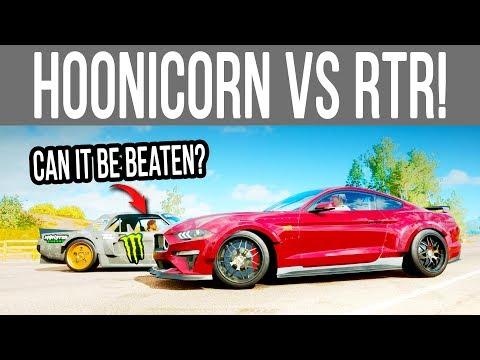 Forza Horizon 4 - Can a 1900HP RTR Mustang Beat a Hoonicorn? *New Challenge* thumbnail