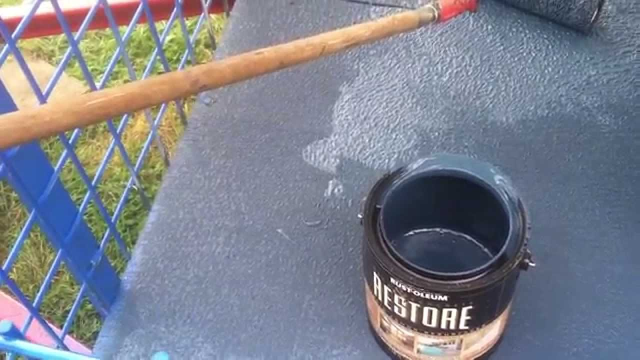 Trailer deck paint with rustoleum deck restore paintstain youtube baanklon Images