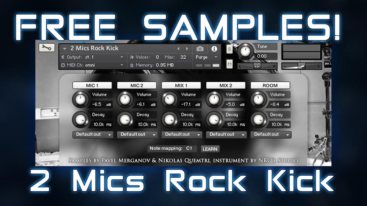 2 Mics Rock Kick - Free Kick Drum Samples
