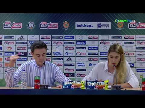 Basket League Post - Game Press Conference | Panathinaikos BC OPAP Athens vs Promitheas BC | Game 1