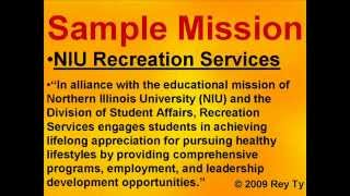 Sample Mission Statements -- Rey Ty