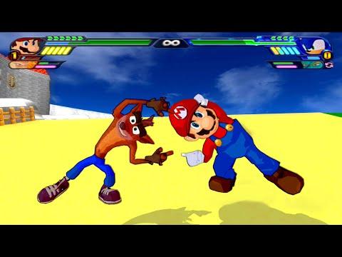 Crash Bandicoot And Mario FUSION   Mario Bandicoot   DBZ Tenkaichi 3 (MOD)