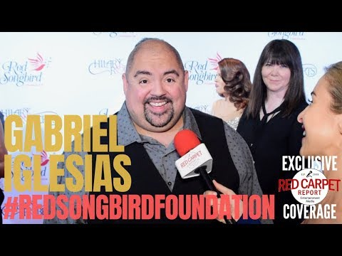 Gabriel Iglesias interviewed at the #RedSongbirdFoundation (RSF) Launch founded by #HilaryRoberts