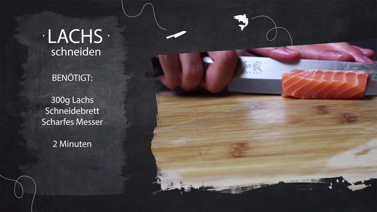 sushi kurs teil 07 lachs f r sushi schneiden youtube. Black Bedroom Furniture Sets. Home Design Ideas