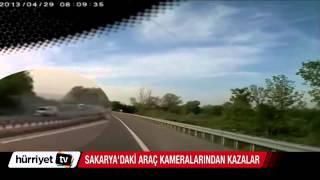 Sakarya'daki araç kameralarından kazalar
