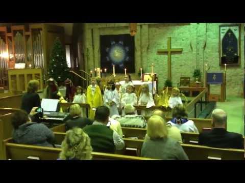 Children's Church Program, Christmas 2010 -- Vivian Enters and Leaves (longer)