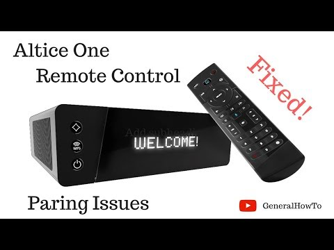 Altice One Remote Control Pairing Issues - YouTube