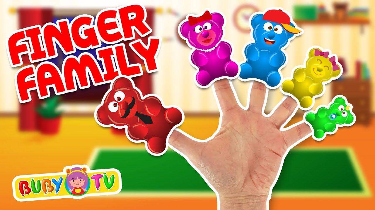 Gummy bears finger family 😀 🖐🎵 Ninna nanna orsetti gommosi la famiglia delle dita, #gummybears #f