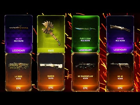 MOST RARE WEAPONS EVER! - BLACK OPS 3 SUPPLY DROP OPENING!!