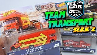 Hot Weels Team Transport serie 2 - Porsche Momo, Plymouth Funny Car & Nissan GReady