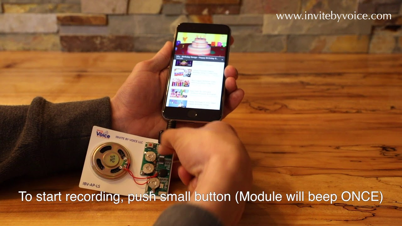 Ezsound Module Light Activated Easy To Record 120 Seconds