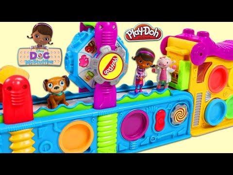 Doc McStuffins Characters Visit Play Doh Mega Fun Factory Playset!
