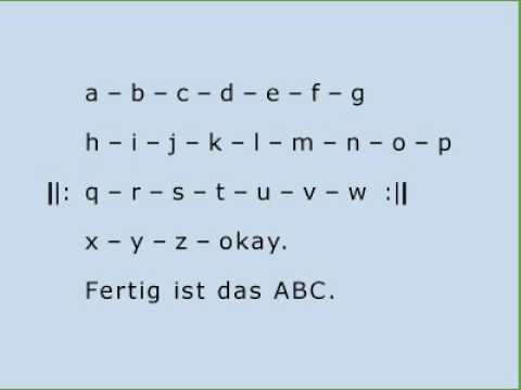 deutsch lernen das alphabet abecedario alem n youtube. Black Bedroom Furniture Sets. Home Design Ideas