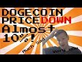 Dogecoin Price Watch: the cryptocurrency loses 10%