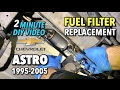Astro Van Fuel Filter Replacement 1995-2005 - 2 MINUTE DIY VIDEO