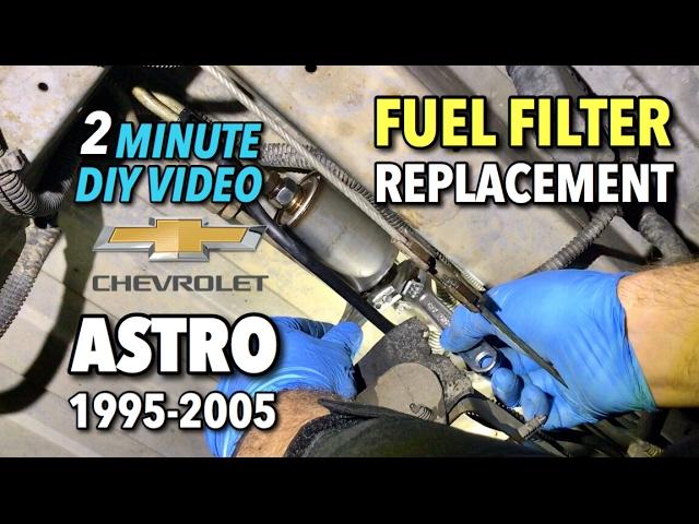 astro van fuel filter replacement 1995-2005 - 2 minute diy video ...  youtube