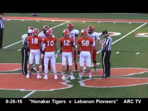 Honaker Tigers v Lebanon Pioneers 8/26/16