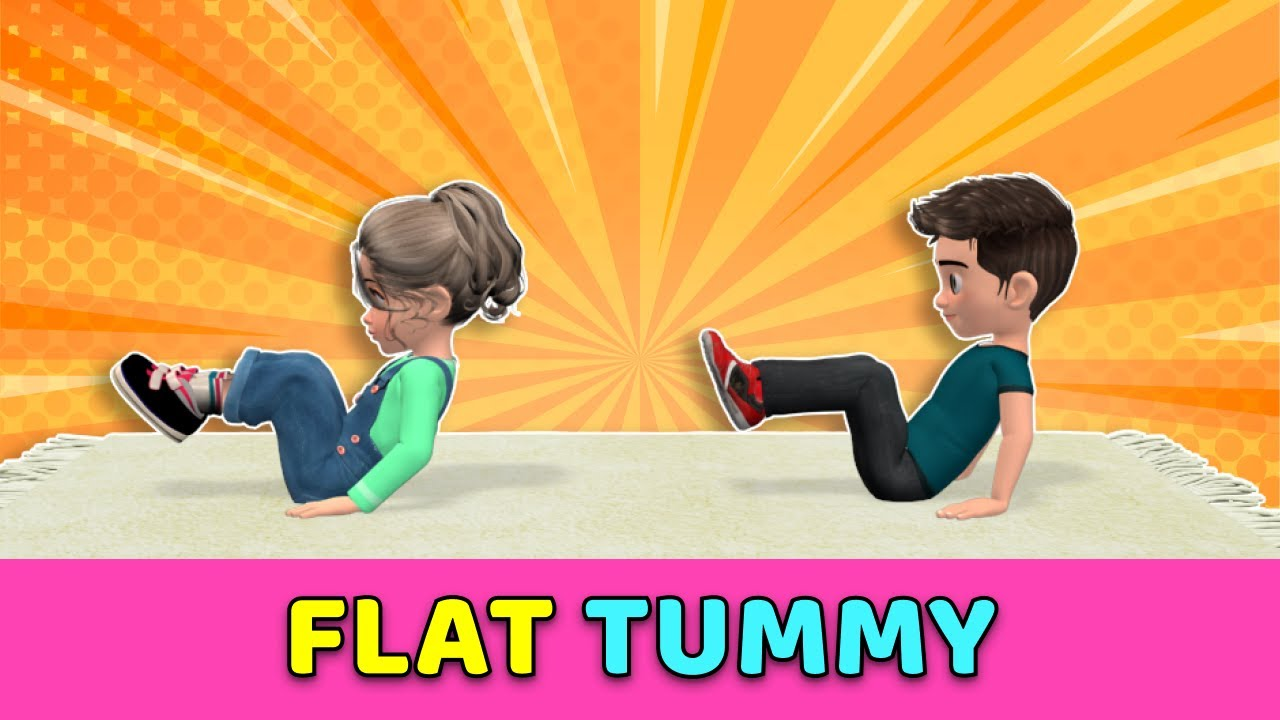 FLAT TUMMY CHALLENGE //KIDS EXERCISES AT HOME