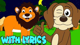 The Lion Sleeps Tonight WITH LYRICS | Nursery Rhymes And Kids Songs