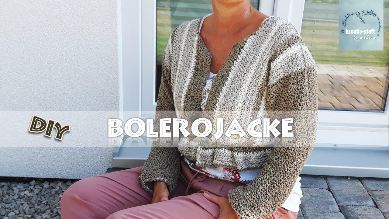 Diy Häkeln Bolero Jacke Mit Volant Crochet Bolero Jacket With