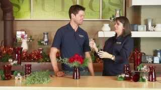 Designing a Holiday Arrangement in the Ruby Glass Assortment