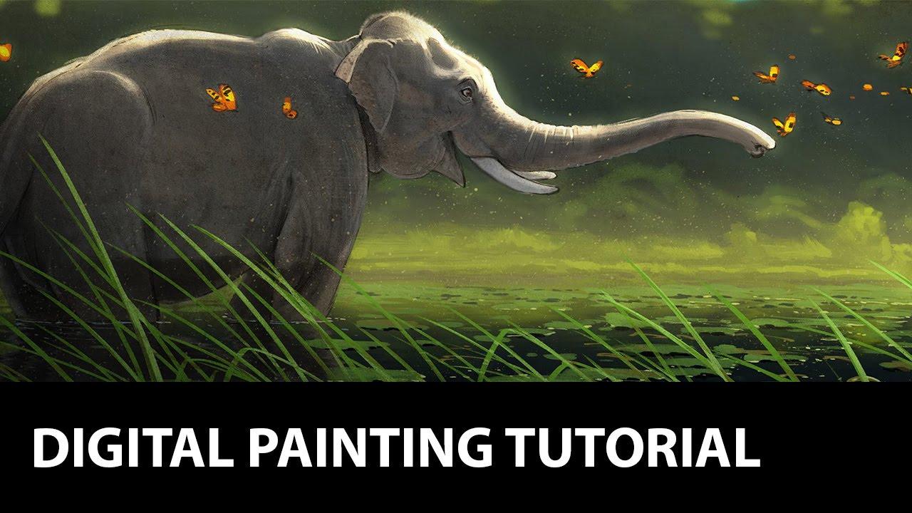 Digital Painting Tutorial Photoshop Elephant Youtube