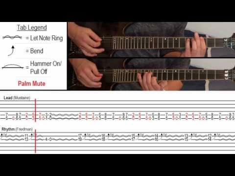 How to Play Sweating Bullets  Megadeth With OnScreen Tabs!  Guitar Tutorial